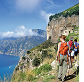 Amalfi coast walking photo